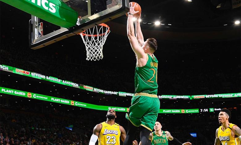 Boston Celtics vencé a Los Angeles Lakers