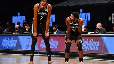 Kevin Durant y Kyrie Irving destrozan a los Warriors